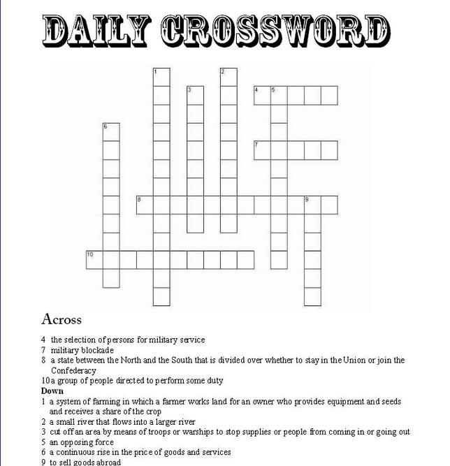 Crossword - The Richmond Times